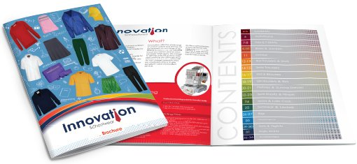 An example of a catalogue design by am:pm graphics. Front page and one inside double page spread.