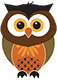 A small illustration of an owl representing the design services of am:pm graphics.