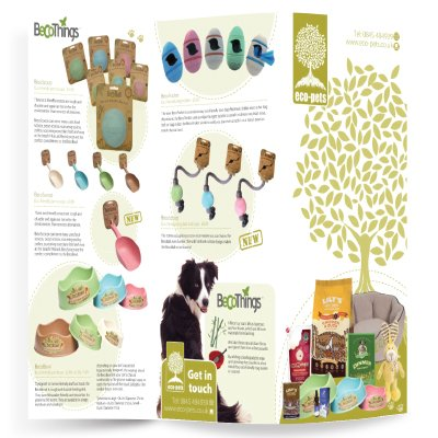 An A3 folded to DL leaflet for Eco Pets. Designed by am:pm graphics