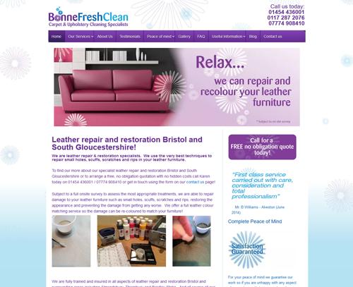 A website design for Bonne Fresh Clean by am:pm graphics