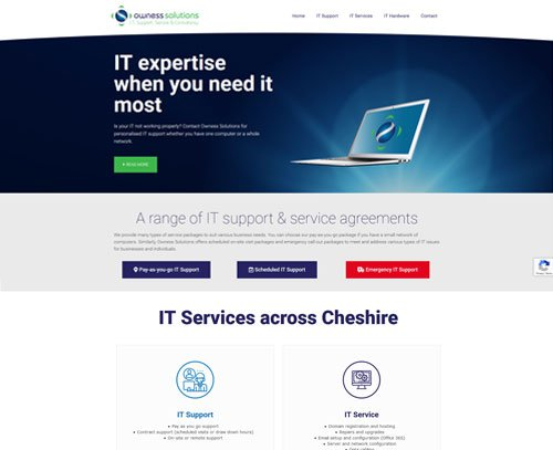 A website design for Owness Solutions by am:pm graphics