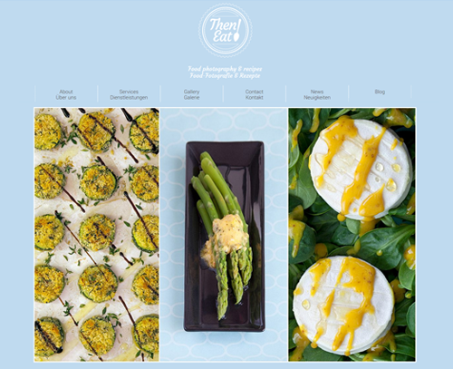 A website design for Then Eat by am:pm graphics