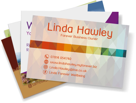 Collection of printed business cards