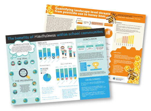 Two research poster designs