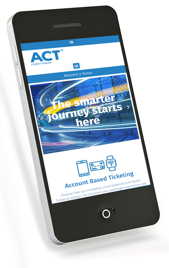 Website on a smart phone