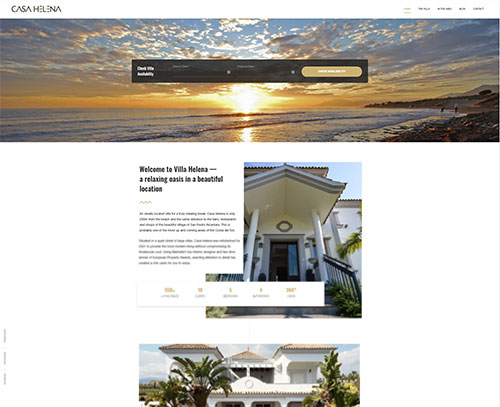 An ecommerce and bookings website design for casa helena