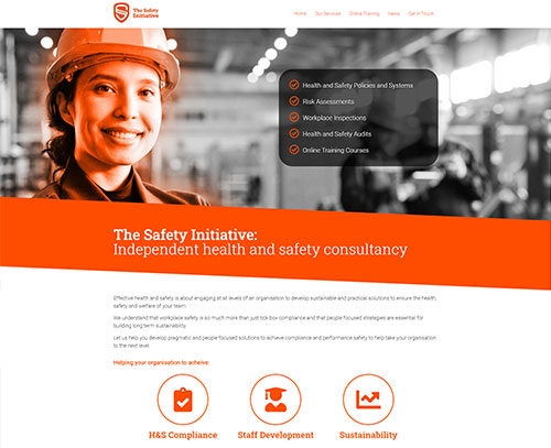 A website design for The Safety Initiative by ampm graphics